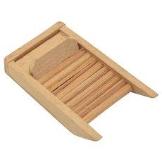 Dollhouse Miniature Wooden Washboard