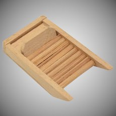 Dollhouse Miniature Wooden Washboard