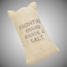 "Dollhouse Miniature ""Frontier Brand Grade A Salt"" Bag"