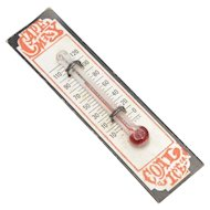 "Dollhouse Miniature ""Cape May Coal Ice Co."" Working Wall Thermometer"