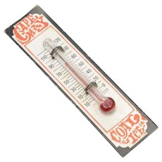 """Dollhouse Miniature """"Cape May Coal Ice Co."""" Working Wall Thermometer"""