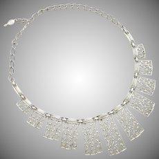 "Signed ""Sarah Cov"" Silver-tone Necklace"