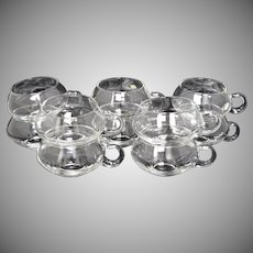 Set of 10 Riekes-Crisa Moderno Hand Blown Modernist Style Glass Punch Cups