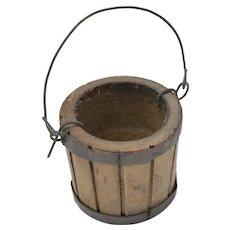 Dollhouse Miniature Wooden Bucket w/ Handle
