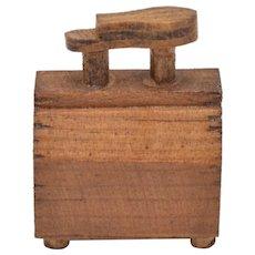 Dollhouse Miniature Wood Shoe Shine Box