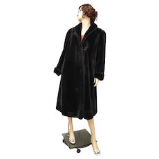 J.Percy for Marvin Richards Full Length Black Faux Fur Coat - Size Small