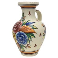 Italy Toledo Hand-painted Spain Made Floral Jug Pitcher