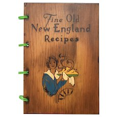 """c1976 """"Fine Old New England Recipes"""" 300 Recipe Softwood Hardcover Cookbook"""