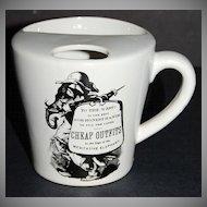Meditative Elephant ~ 'Cheap Outfits' Black & White Ceramic Mug