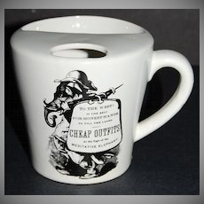 Meditative Elephant ~ 'Cheap Outfits' Black & White Ceramic Mug