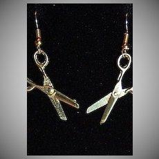 1970/80s Goldtone Scissor Earrings