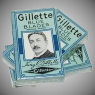 Early 1900s King Gillette 5 Blue Blades SEALED in Original Package