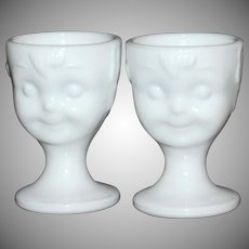 Guernsey ~ Set of 2 Hummel Milk Glass Egg Cups