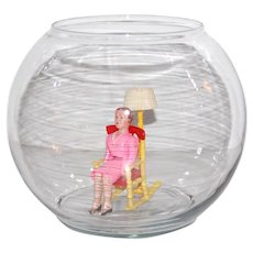 Indiana Glass Clear Glass Round Globe Fish Bowl