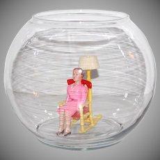 Indiana Glass Clear Glass Round Globe Fish Bowl
