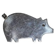 Anne Harvey ~ Sterling Silver Pig Figural Brooch/Pin