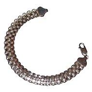Sterling Silver Weave Link Bracelet