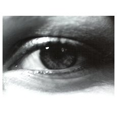 "Circa 1974 Signed Bill Hansford ""Woman's Eye"" Black & White Unframed Photograph"
