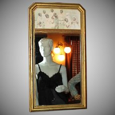 1925 Black Americana Children Wood Frame Mirror