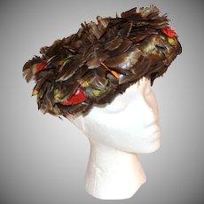 1960s Mister T ~ Dark Feather Hat