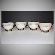 Flintridge China ~ Set of 4 Porcelain Cups