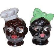 Disembodied Chef & Mammy ~ Black Memorabilia Salt & Pepper Shakers