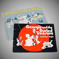 1970s Set of 2 Georgie the Ghost Hardcover/Softcover Books