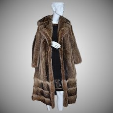 1960s Donald Brooks Boutique ~ Long Mink Fur Coat