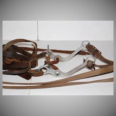 Horse Bridle w/ Leather Straps Rustic Wall Decoration