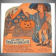 1940/50s Rosen ~ Halloween Lollipop Candy Card Holder