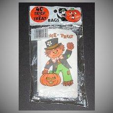 1981 Halloween Candy Bags ~ Scarecrow w/ Pumpkin