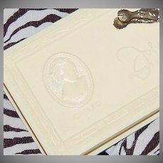 Art Deco Johnston's Chocolates ~ Celluloid Chocolate Box w/ Bon Bon Tongs