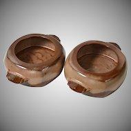 Frankoma ~ Set of 2 Plainsman Brown Bean Pots
