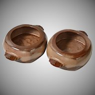 Frankoma ~ Set of 2 Plainsman Brown Bean Pots