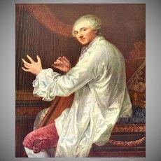 Jean Baptiste Greuze Monsieur De La Live De Jully Reproduction Art Print