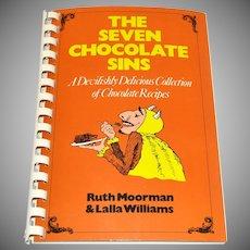 1993 The Seven Chocolate Sins Spiral Bound Cookbook