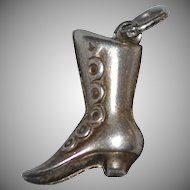 Sterling Victorian Style Boot Charm
