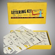 "1950s Duro Art Supply ~ 2.5"" Die-Cut Lettering Kit w/ Original Box"