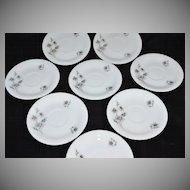 1950s Georges Boyer ~ Set of 8 Limoges Porcelain Saucers