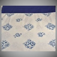 1960s Wamsutta ~ Blue Rose No-Iron Twin Flat Sheet