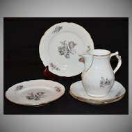 Rosenthal Sanssouci ~ Grey Rose ~ 5-Pc China Set