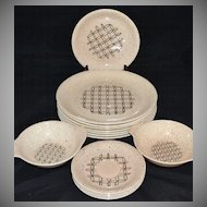 1950s Vernonware ~ Heyday ~ 14-Pc Dinnerware Set