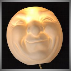1980 Sarsaparilla Deco Designs ~ Moon Man Wall Light/Lamp