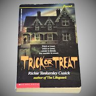 1989 Trick Or Treat Softcover Book ~ Richie T. Cusick 1st Printing