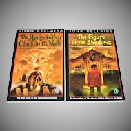 1993 John Bellairs ~ Set of 2 Scary Books: The House With A Clock In Its Walls & The Figure In The Shadows