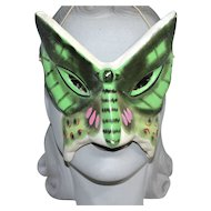 Vintage Halloween Paper Mache Butterfly Face Mask