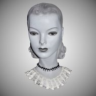 White Spiderweb Crochet Lace Handmade Collar
