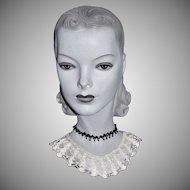 White Spiderweb Crochet Lace Handmade Collar