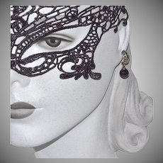 Sterling Marcasite & Black Onyx Dangle Earrings