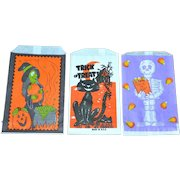 Set of 3 Halloween Candy Trick or Treat Paper Bags